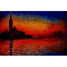 "<strong>iCanvasArt</strong> ""Sunset in Venice"" Canvas Wall Art by Claude Monet"