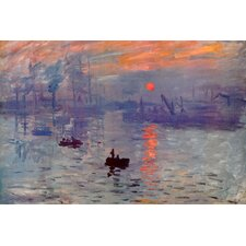 """Sunrise Impression"" Canvas Wall Art by Claude Monet"