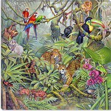 "<strong>iCanvasArt</strong> ""The Rainforest"" Canvas Wall Art by Tim Knepp"
