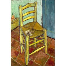 "<strong>iCanvasArt</strong> ""Vincent's Chair with His Pipe"" Canvas Wall Art by Vincent Van Gogh"