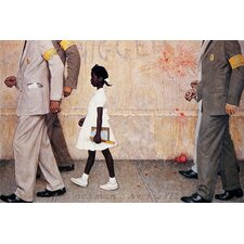 "<strong>iCanvasArt</strong> ""The Problem We All Live with (Ruby Bridges)"" Canvas Wall Art by Norman Rockwell"