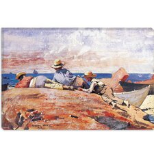 """Three Boys on the Shore 1873"" Canvas Wall Art by Winslow Homer"
