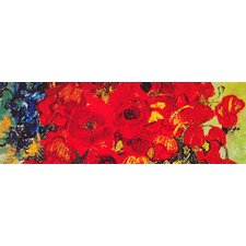 "<strong>iCanvasArt</strong> ""Vase with Daisies and Poppies"" Canvas Wall Art by Vincent Van Gogh"