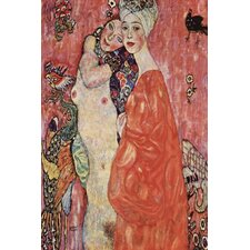 "<strong>iCanvasArt</strong> ""Women Friends 1916-1917"" Canvas Wall Art by Gustav Klimt"