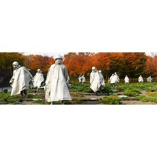 <strong>iCanvasArt</strong> Statues of Army Soldiers in a Park, Korean War Memorial, Washington, D.C Canvas Wall Art