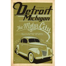 <strong>iCanvasArt</strong> The Motor City - Detroit Michigan Canvas Wall Art