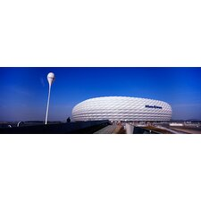 <strong>iCanvasArt</strong> Soccer Stadium in a City, Allianz Arena, Munich, Bavaria, Germany Canvas Wall Art