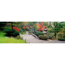 <strong>iCanvasArt</strong> Stone Bridge, The Japanese Garden, Seattle, Washington State Canvas Wall Art