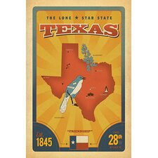 <strong>iCanvasArt</strong> The Lone Star State - Texas Canvas Wall Art
