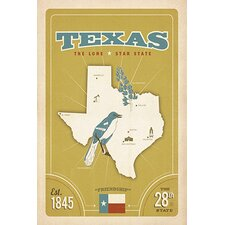 <strong>iCanvasArt</strong> The Lone Star State - Texas ll Canvas Wall Art