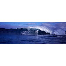 <strong>iCanvasArt</strong> Surfer in the Ocean, Maui, Hawaii Canvas Wall Art