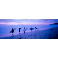 <strong>iCanvasArt</strong> Surfers on Beach Costa Rica Canvas Wall Art