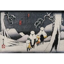 "<strong>iCanvasArt</strong> ""Travellers on Horseback in the Snow"" Canvas Wall Art by Utagawa Hiroshige l"