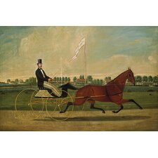"<strong>iCanvasArt</strong> ""Trotting Horse"" Canvas Wall Art by Charles Humphreys"