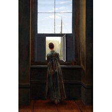 "<strong>iCanvasArt</strong> ""Woman at The Window"" Canvas Wall Art by Caspar David Friedrich"