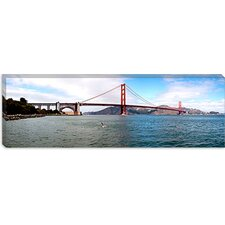 Suspension Bridge Across the Sea, Golden Gate Bridge, San Francisco, California Canvas Wall Art