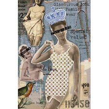 "<strong>iCanvasArt</strong> ""Vintage Fashion #4"" Canvas Wall Art by Luz Graphics"