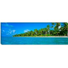<strong>iCanvasArt</strong> Tetiaroa Atoll French Polynesia Tahiti Canvas Wall Art