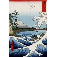 "<strong>iCanvasArt</strong> ""View from Satta Suruga"" Canvas Wall Art by Ando Hiroshige"
