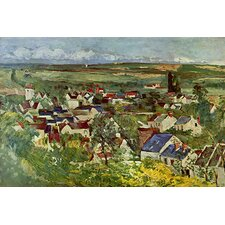"""View of Auvers"" Canvas Wall Art by Paul Cezanne"
