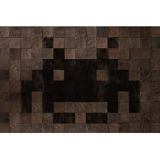 <strong>iCanvasArt</strong> Space Invader - Woody Cube Invader Art Canvas Wall Art