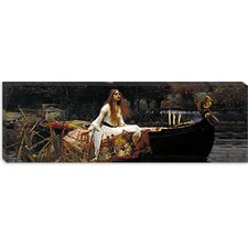 "<strong>iCanvasArt</strong> ""The Lady of Shalott"" Panoramic Canvas Wall Art by John William Waterhouse"