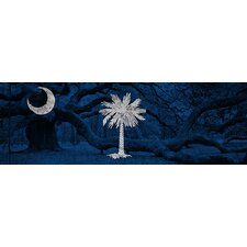 <strong>iCanvasArt</strong> South Carolina Flag, Oak in Charleston Canvas Wall Art