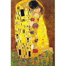 """The Kiss"" Canvas Wall Art by Gustav Klimt"