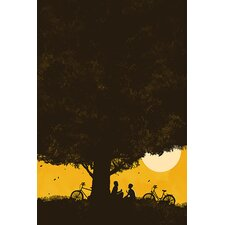 "<strong>iCanvasArt</strong> ""Under Giant Oak Tree"" Canvas Wall Art by Budi Satria Kwan"