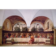 "<strong>iCanvasArt</strong> ""The Last Supper"" Canvas Wall Art by Domenico Ghirlanaio"