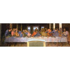 """The Last Supper"" Panoramic Canvas Wall Art by Leonardo Da Vinci"