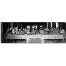 "<strong>iCanvasArt</strong> ""The Last Supper II"" Panoramic Canvas Wall Art by Leonardo Da Vinci"