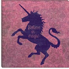 "<strong>iCanvasArt</strong> ""Unicorn"" Canvas Wall Art by Erin Clark"