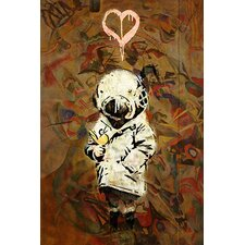 <strong>iCanvasArt</strong> Space Girl and Bird Mural Canvas Wall Art