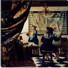 "<strong>iCanvasArt</strong> ""The Art of Painting"" Canvas Wall Art by Johannes Vermeer"