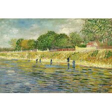 "<strong>iCanvasArt</strong> ""The Banks of the Seine"" Canvas Wall Art by Vincent Van Gogh"