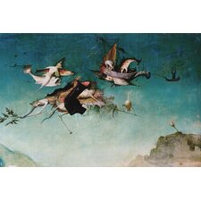 "<strong>iCanvasArt</strong> ""Temptation of St.Anthony, Detail of Left Hand Panel"" Canvas Wall Art by Hieronymus Bosch"