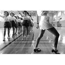 "<strong>iCanvasArt</strong> ""Tap Dancing Class at Lowa State College in 1942"" Canvas Wall Art by Jack Delano"