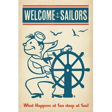 <strong>iCanvasArt</strong> Welcome Sailors Canvas Wall Art