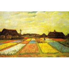 "<strong>iCanvasArt</strong> ""Tulpenfelder (Tulip Fields)"" Canvas Wall Art by Vincent Van Gogh"