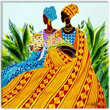 "<strong>iCanvasArt</strong> ""Two Sisters"" Canvas Wall Art by Keith Mallett"