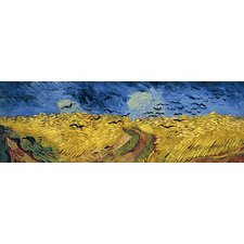 """Wheatfield with Crows"" Canvas Wall Art by Vincent Van Gogh (Panoramic)"