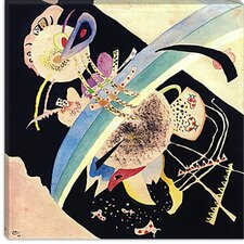 "<strong>iCanvasArt</strong> ""Study for Circles on Black"" Canvas Wall Art by Wassily Kandinsky"