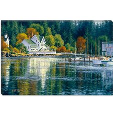 "<strong>iCanvasArt</strong> ""Summer Reflections"" Canvas Wall Art by Randy Van Beek"