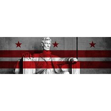 <strong>iCanvasArt</strong> Washington, D.C, #3 Lincoln Memorial Canvas Wall Art