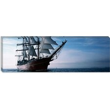 Tall Ships Race in the Ocean, Baie De Douarnenez, Finistere, Brittany, France Canvas Wall Art