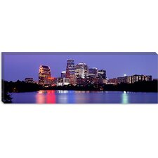 <strong>iCanvasArt</strong> U.S. Texas, Austin, Skyline, Night Canvas Wall Art