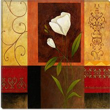 "<strong>iCanvasArt</strong> ""White Rose"" Canvas Wall Art by Pablo Esteban"