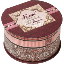 <strong>Cottage Garden</strong> Belle Papier Friend Round Box