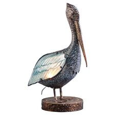 """Glass and Metal Pelican 20.5"""" H Table Lamp"""